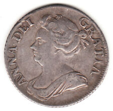 1709 Great Britain Anna Silver Shilling. Third Bust. Ef.