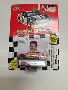 Racing Champions: 1995 Edition #23 Chad Little car, stand, collectors card - New