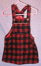 OshKosh B'Gosh Girl's Plaid Bib Ovealls Dress Jumper Sz 3T