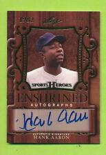 2016 Leaf Sports Heroes Gold Enshrined Auto - Hank Aaron (EA-HA1) Braves  01/10