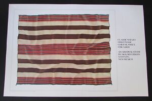 Signed Jack Silverman Litho Print Classic Navajo First Phase Chief Blanket 1989