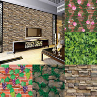 3D Wall Paper Brick Stone Effect Self-adhesive Wall Sticker Wallpaper Decor A
