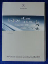 Mercedes-Benz S-Klasse ML 63 AMG Vision R63 SLR - Pressemappe press-kit IAA 2005