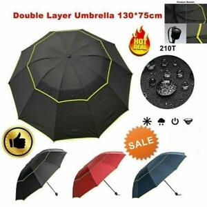 Extra Oversize Large Compact Golf Umbrella Double Canopy Vented Windproof