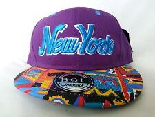 URBAN UNISEX NEW YORK  FLAT PEAK BASEBALL CAP SUN HAT, NY HIP HOP