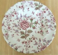 "JOHNSON BROTHERS ROSE CHINTZ 8 3/4"" WIDE RIM SOUP BOWL MADE IN ENGLAND"