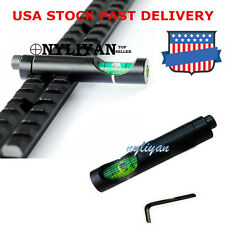US Metal Spirit Bubble Level fit 20mm Picatinny Weave Rail for Rifle Scope Sight