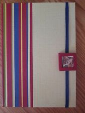 Journal Diary Hardcover Lined Pages Striped Cover Storage Pocket Hallmark New