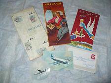 AVIAZIONE BROCHURE AIR FRANCE 1955 FLOTTA MAPPA DELLE ROTTE VICKERS VISCOUNT
