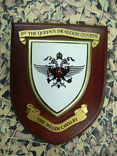 Regimental Plaque / Shield - 1st Queens Dragoon Guards The Welsh Cavalry