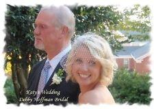 Small Birdcage Bridal Blusher Veil, Ivory, White, Beige, Black, Brown - No. 401