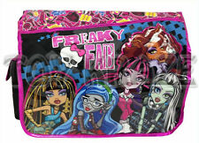 "MONSTER HIGH MESSENGER! FREAKY FAB PINK GLITTER CROSS BODY SHOULDER BAG 15"" NWT"