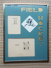Field Hockey Custom Photo Frame & Mat * Mount your own photo - 2 pictures gift