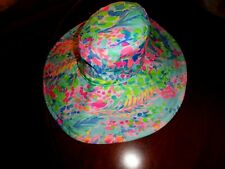 NWT LILLY PULITZER MULTI CATCH THE WAVE BEACH HAT GWP ONE SIZE