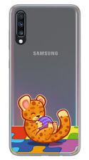 Funda Gel Transparente para Samsung Galaxy A70 diseño Leopardo Dibujos