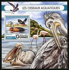 GUINEA 2016 AQUATIC BIRDS   SOUVENIR  SHEET MINT NH