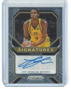 2021 WNBA PANINI PRIZM * LISA LESLIE * SIGNATURES AUTOGRAPH CARD LA SPARKS USC