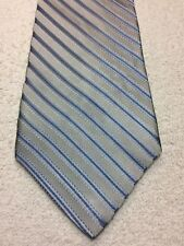 COVINGTON MENS TIE GRAY AND BLUE STRIPED 3.75 X 59