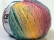 Lot of 4 x 100gr Skeins Ice Yarns MIRAGE COLOR (50% Wool) Wool Yellow Emerald...