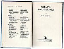 William Shakespeare by John Masefield (hardback 1954)