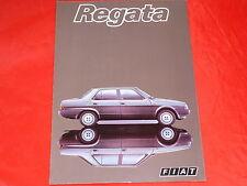 FIAT REGATA 75 SUPER es 85 SUPER 100 SUPER DIESEL prospetto di 1983
