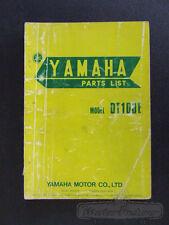 Yamaha DT100 DT 100 DT100E 1978 Models Genuine Parts List Manual Book