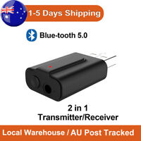 2 in1 USB Blue tooth 5.0 Transmitter Audio Receiver Adapter for TV PC Car AUX