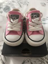 CONVERSE ALL STAR BABY/TODDLER PINK TRAINERS UK 2