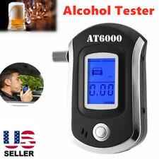 Digital Breath Alcohol Tester LCD Breathalyzer Analyzer With 5 Mouthpiece US