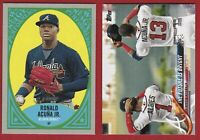 2018 Topps Update ALBIES & RONALD ACUNA JR RC Rookie + 2019 Heritage New Age