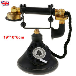 Vintage Style 1950's Phone Retro Rotary Dial Telephone Model Classic Look Decor