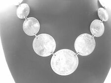 "Coin necklace~Antique dimes, nickels, quarters, half dollars, Morgan dollar-18"""
