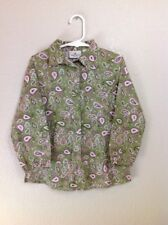 Tom Tailor Girls Long Sleeve Shirt Blouse Paisley Size 104-110 4-6 Years