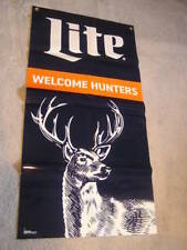 "24"" x 47"" Miller Lite Welcome Hunters Beer Banner Deer Orange Rifle"