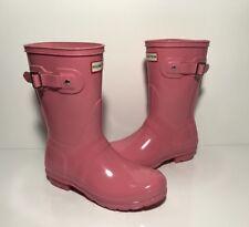 Women's Hunter Original Short Pink Gloss Rain Boot Size 6 US 37 EU
