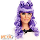 Purple Cosplay Wig Ladies Fancy Dress Womens Adult Halloween Costume Accessory