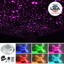 Twinkle LED Fiber Optic Star Ceiling Lights Kit RGBW Car Home Roof Lamp Decor 2M
