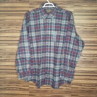 NWT St Johns Bay Mens 2XL Front Button Plaid Heavy Shirt Light Flannel