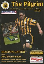 Boston United (first FL match) v Bournemouth, 10 August 2002, League 2