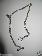 Vintage Juicy Couture Sterling Silver chunky necklace chain .