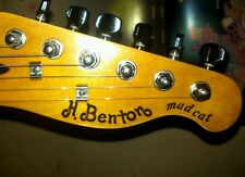 """""""Madcat"""" waterslide headstock accent decal (non-Benton TE-80 / Hohner/ Anderson)"""