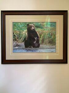 """Thomas Mangelsen Framed Art- Bear — """"The Prize"""""""