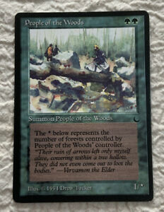 People of the Woods VG The Dark 1994 Original Mtg