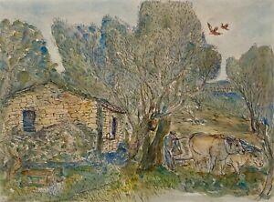 "Original Etching By Salvatore Zofrea ""Farmer"" Hand Signed"