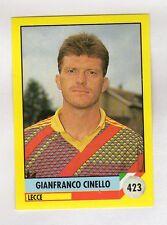 figurina IL GRANDE CALCIO VALLARDI 1992 NUMERO 423 LECCE CINELLO