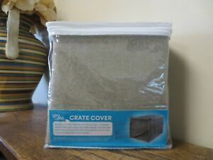 New! You & Me Dog Crate Cover TAN LARGE  37L x 23.5W x 23H  (8597)