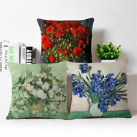 18'' Flowers plant Cotton Linen Throw Pillow Case Cushion Cover Home Decor