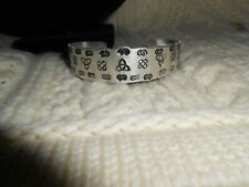 Celtic Irish Silver Cuff Bracelet