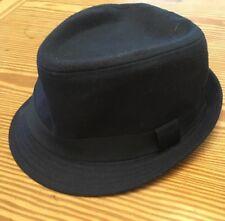 "San Diego Hat Company Men's Blue Felt Porkpie W/Grosgrain Band Size 7 3/8"" NEW"