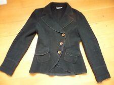 blazer noir spencer PROMOD en laine bouillie T40